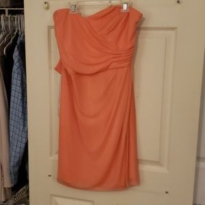 David's Bridal Peach Dress